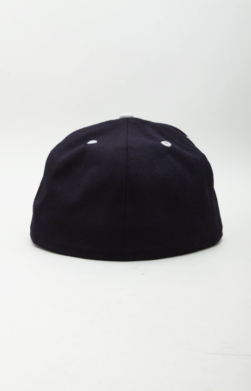 Icon Face NE Fitted Hat - Navy/Grey 2