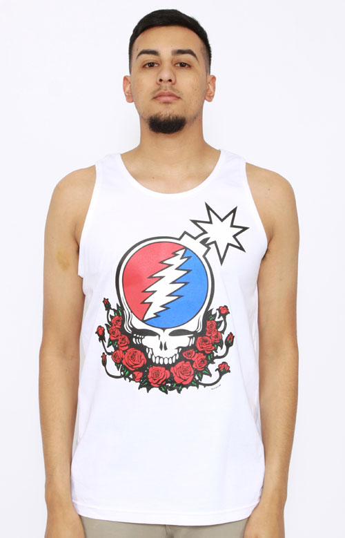 4c3d246f The Hundreds x Grateful Dead, Steal Your Face Tank Top - White | MLTD