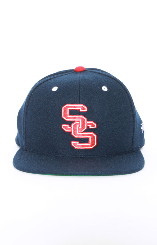 College Starter Snap-Back Hat - Navy