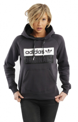 Adidas Women Clothing, Squared Up Hoodie - Shadow Black
