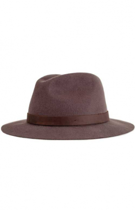 Brixton Clothing, Cue Fedora - Brown