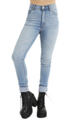 Cheap Monday Womens Clothing, Second Skin Jeans - Stonewash Blue