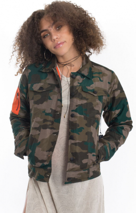 Diamond Supply Womens Clothing, Cavalry Button-Up Bomber Jacket