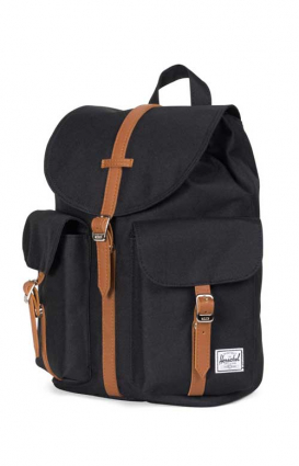 Herschel Clothing, Dawson Women's Backpack - Black/Tan Synthetic Leather