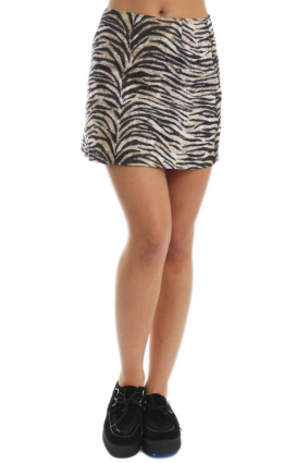 Motel Clothing, Annie Skater Skirt - Tiger