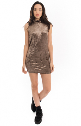 Motel Clothing, Sarbas Velvet Drape Bodycon Dress