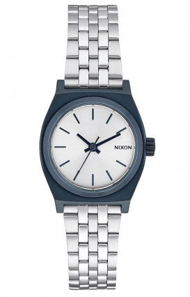 Nixon Clothing, Small Time Teller Women's Watch - Navy/Silver