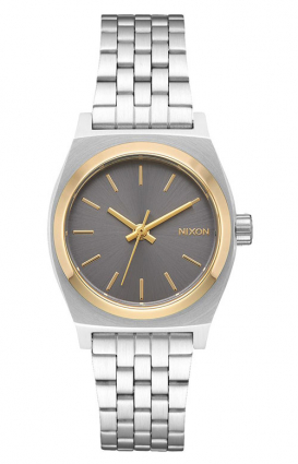 Nixon Clothing, Small Time Teller Women's Watch - Silver/Gold/Grey