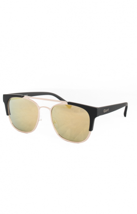 Quay Australia Clothing, High And Dry Sunglasses - Gold/Gold Mirror