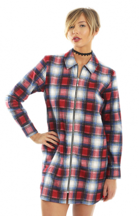 Stussy Womens Clothing, Lincoln Shirt Dress - Red