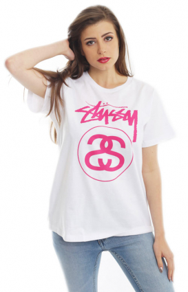 Stussy Womens Clothing, Stock Link T-Shirt - White