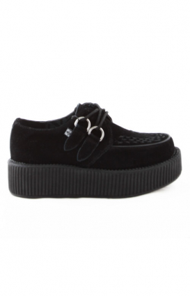 T.U.K. Clothing, Black Suede Viva Mondo Creeper