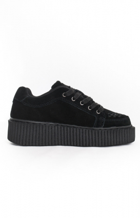 T.U.K. Clothing, Suede Casbah Creeper - Black