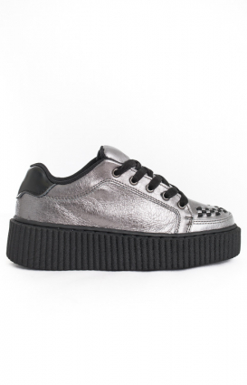 T.U.K. Clothing, Suede Casbah Creeper - Graphite