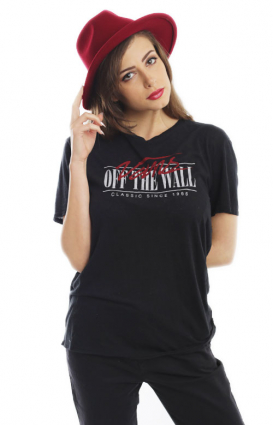 Vans Womens Clothing, Classic Wall T-Shirt - Black
