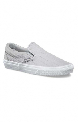 Vans Womens Clothing, Embossed Woven Suede Classic Slip-On Shoe - Microchip
