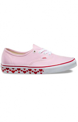 Vans Womens Clothing, Hearts Tape Authentic Shoe - Pink Lady