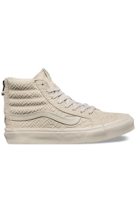 Vans Womens Clothing, Mono Python Sk8-Hi Slim Zip DX Shoe - Angora