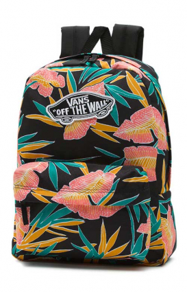Vans Womens Clothing, Realm Backpack - Black Tropical