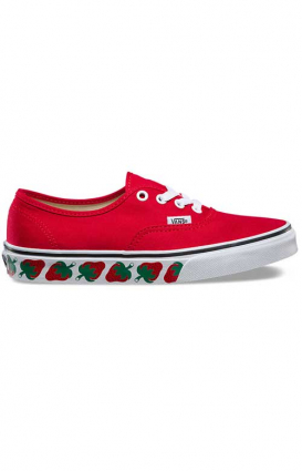 Vans Womens Clothing, Strawberry Tape Authentic Shoe - Red/Bkacj
