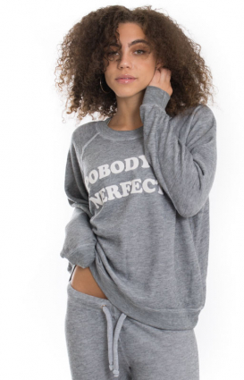 Wildfox Clothing, Pobody's Nerfect Sommer Sweater - Grey