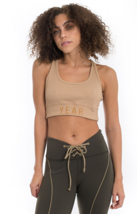 Year Of Ours Clothing, Ribbed Bra - Tan