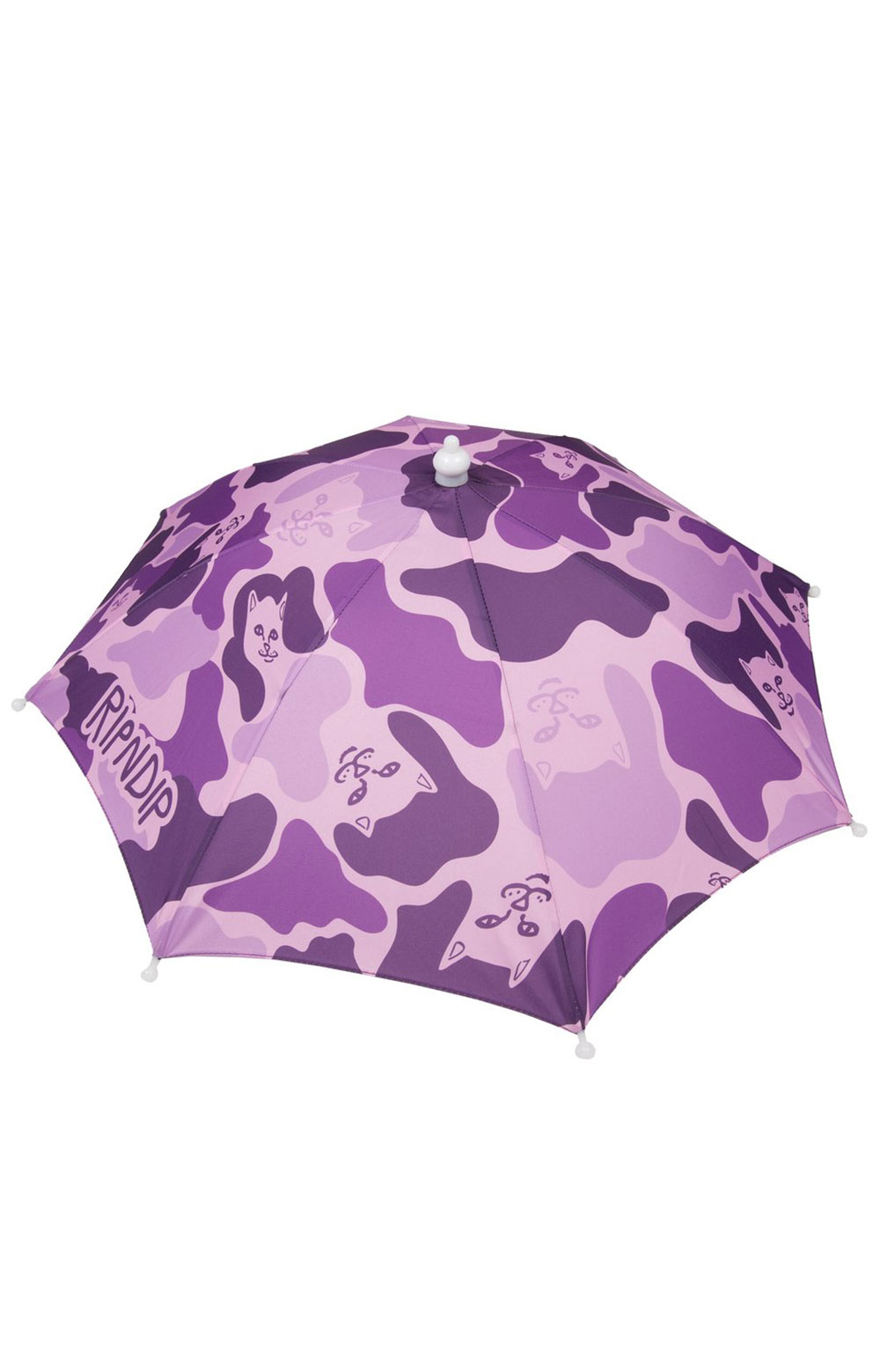 Camo Umbrella Hat - Purple