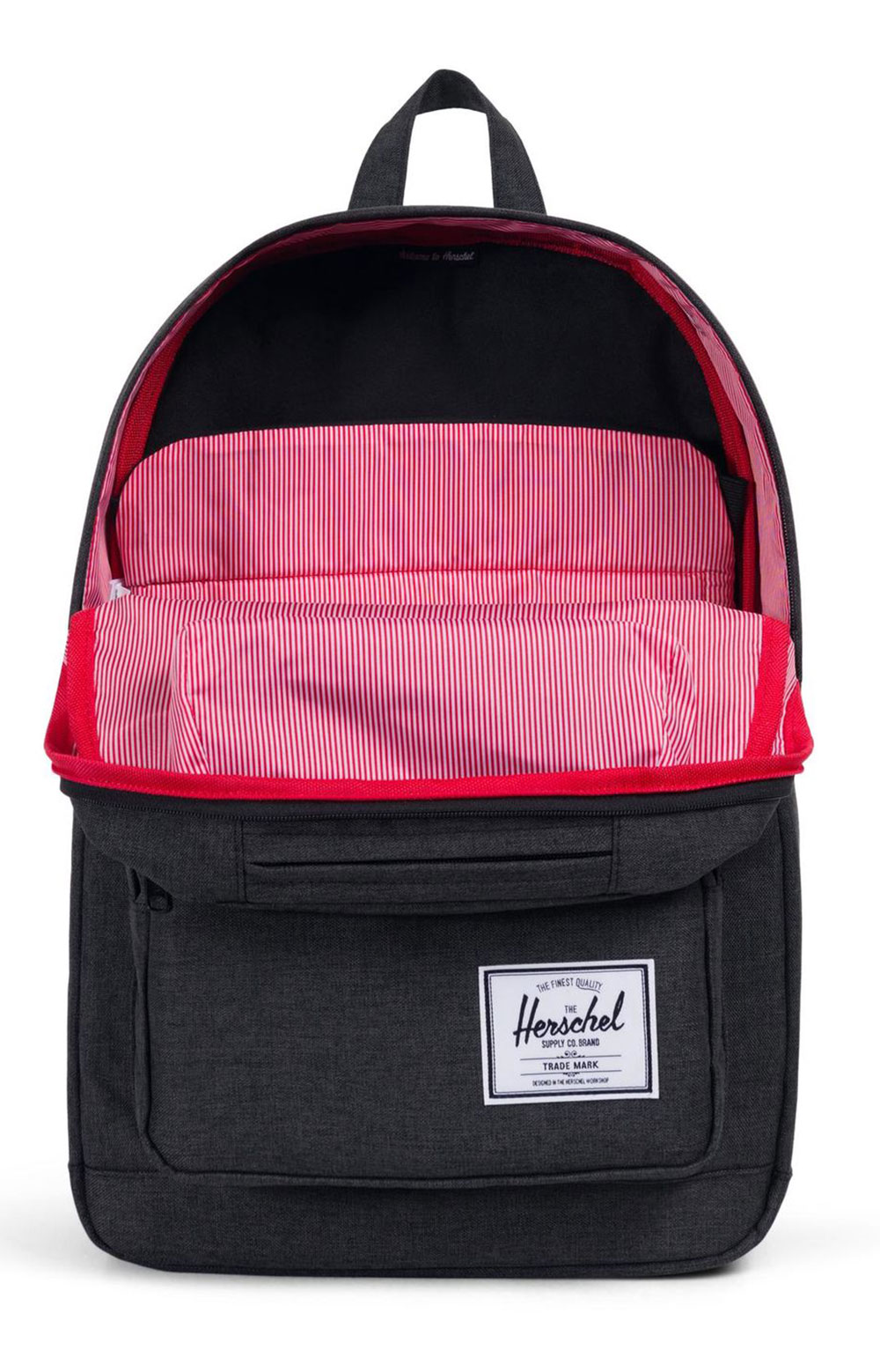 Pop Quiz Backpack - Black Crosshatch/Black 2