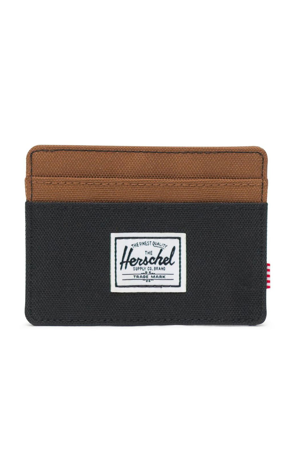 Charlie Wallet - Black/Saddle