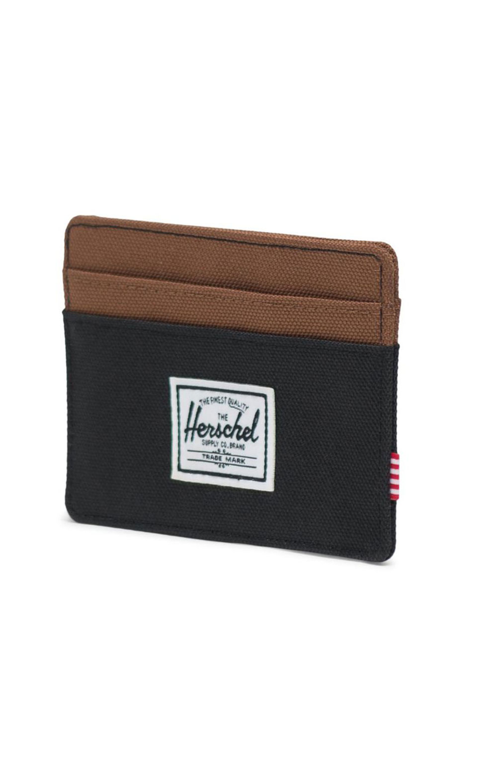 Charlie Wallet - Black/Saddle 2