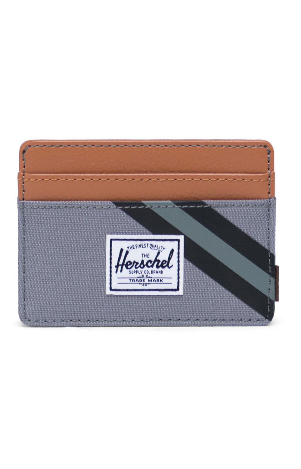 Charlie Wallet - Grey/Leather