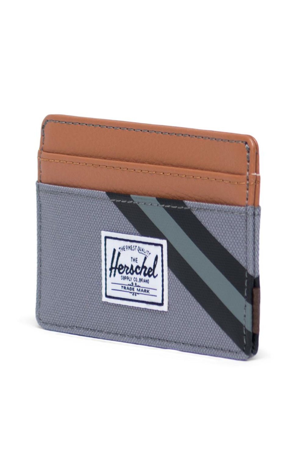 Charlie Wallet - Grey/Leather  2