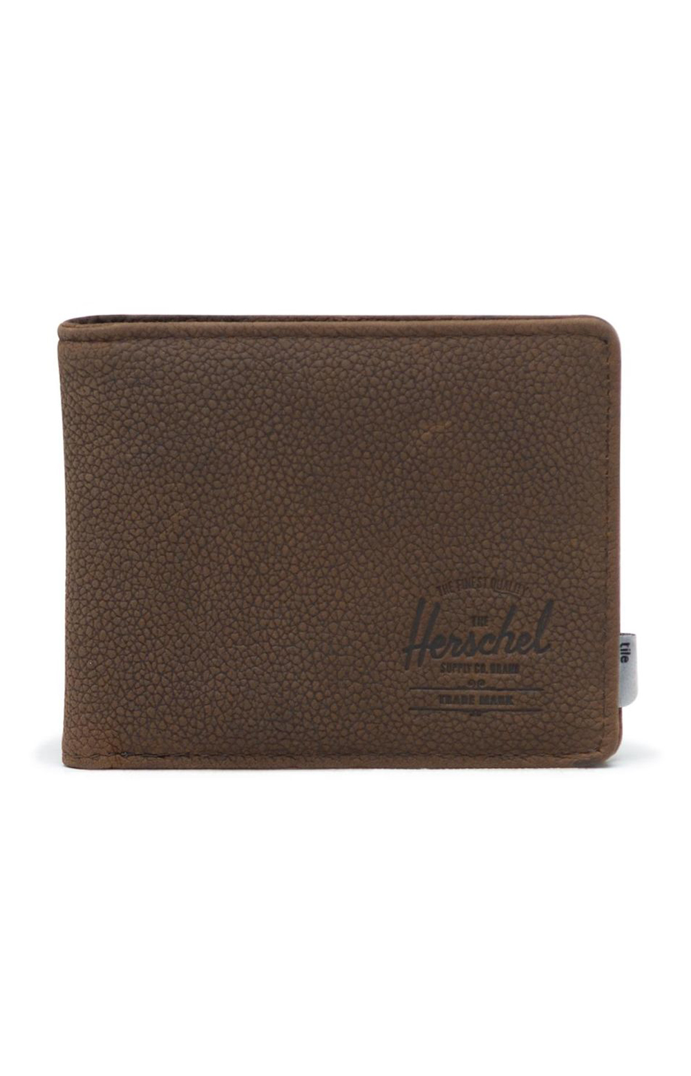Roy Tile Wallet - Brown Pebbled Leather
