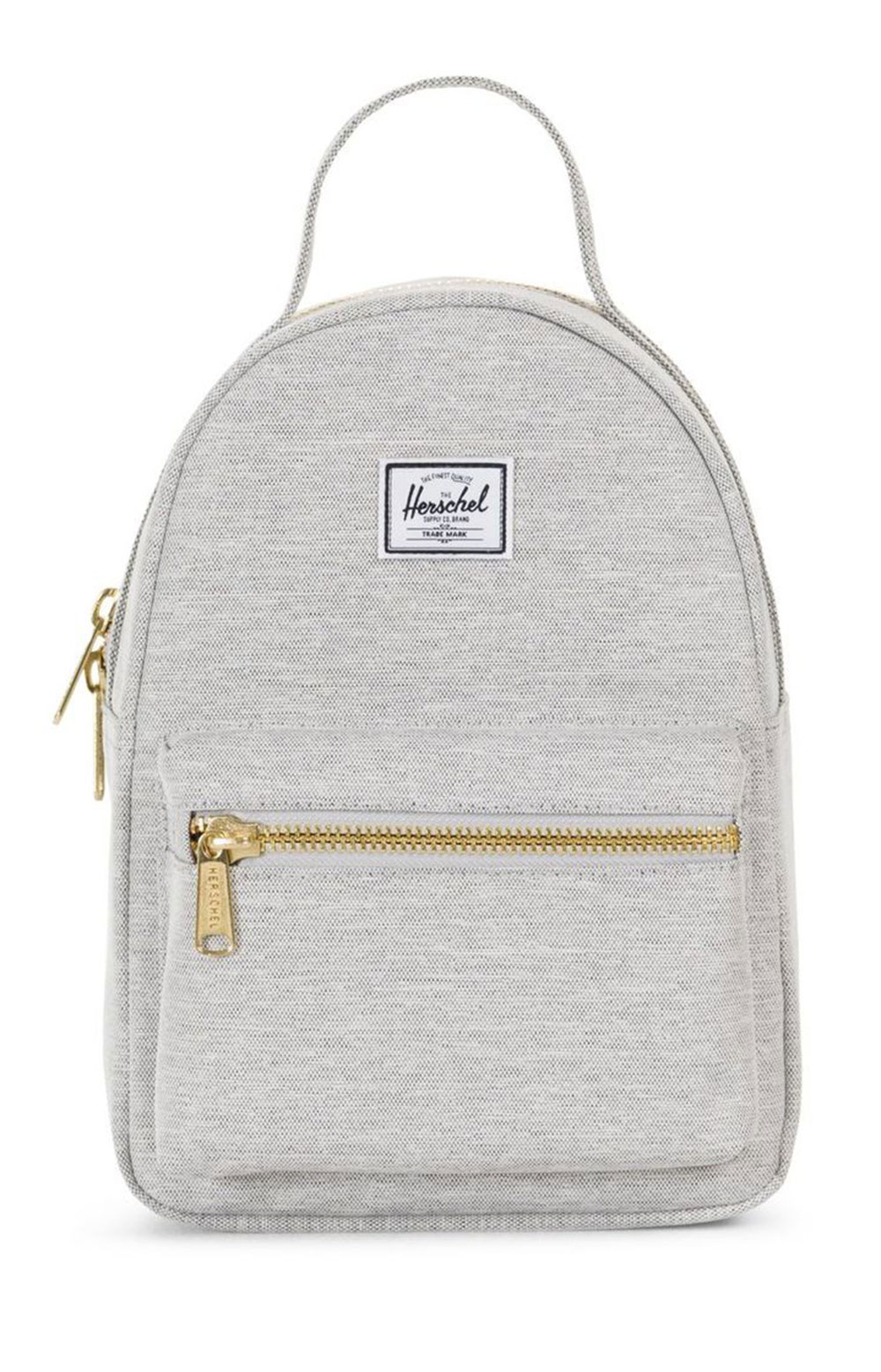 Nova Mini Backpack - Light Grey Crosshatch