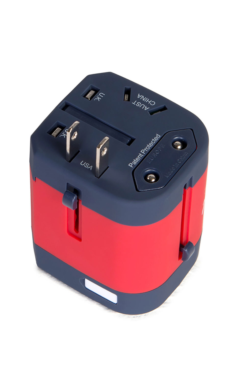 Travel Adapter - Navy/Red 2