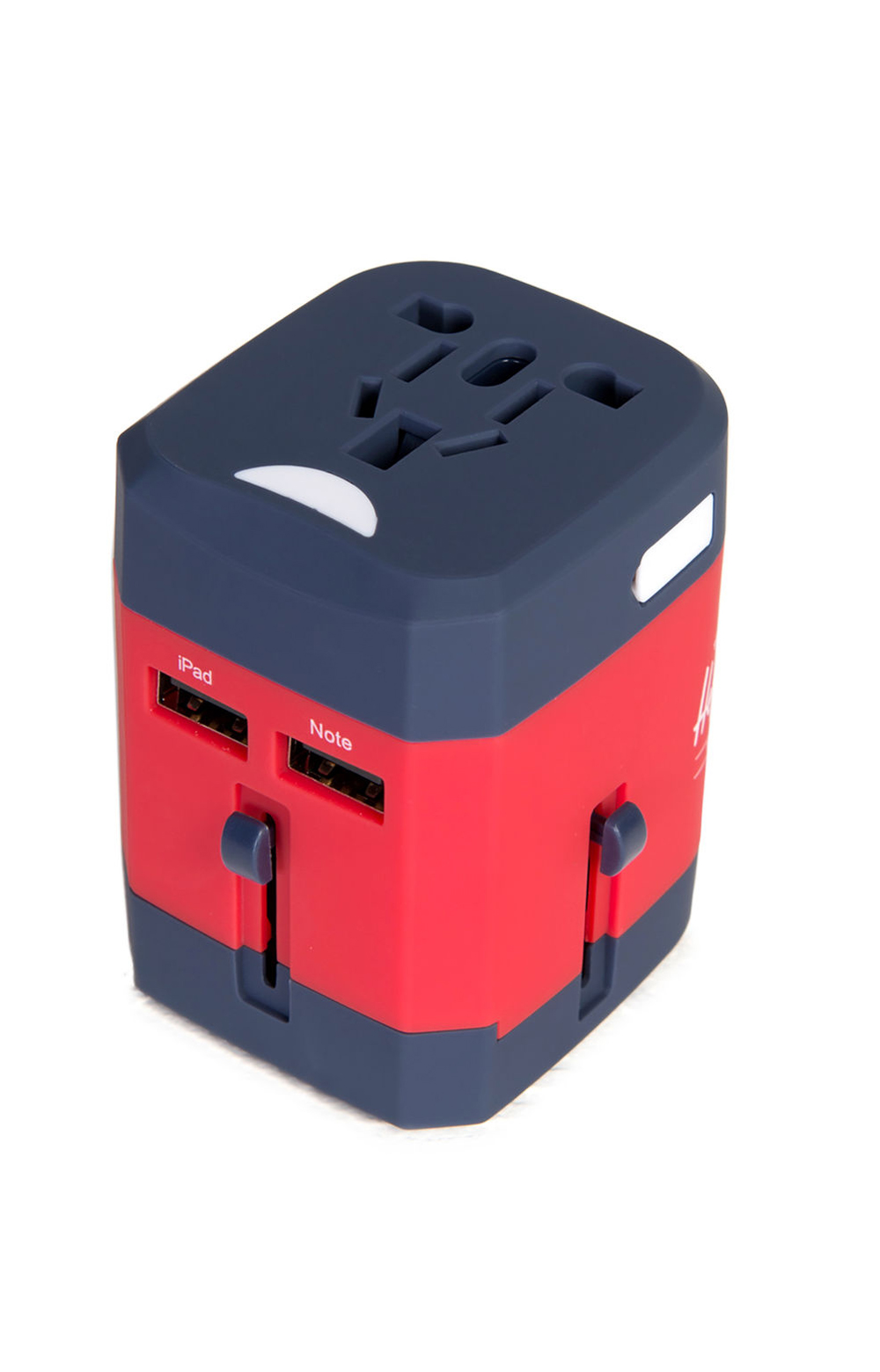 Travel Adapter - Navy/Red 3