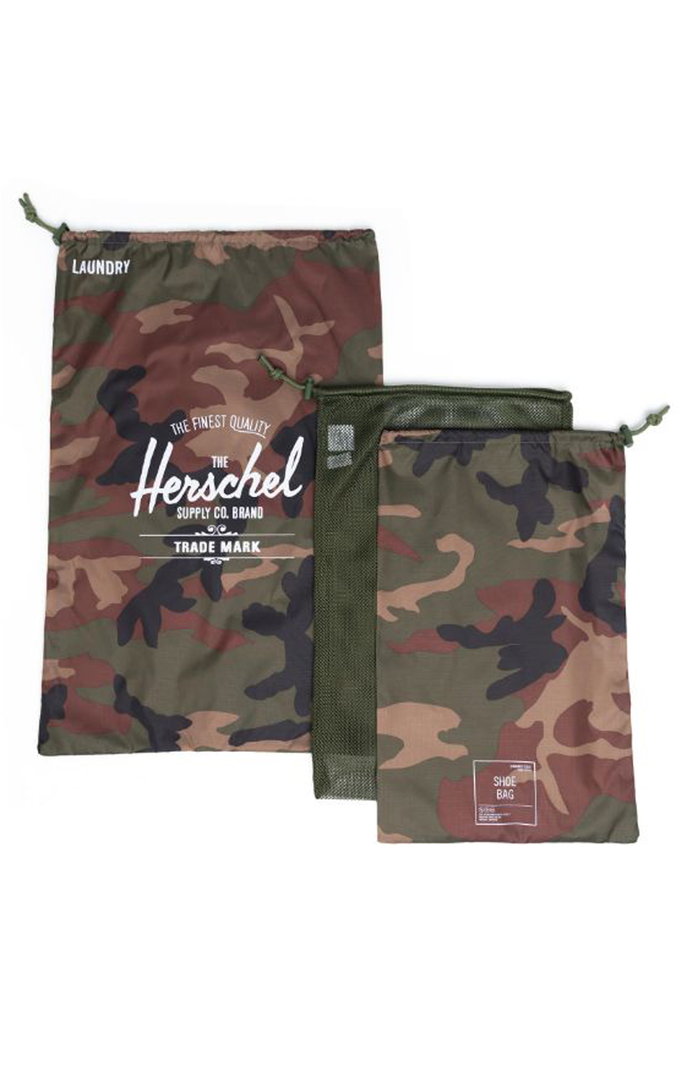 Laundry / Shoe Bag Set - Woodland Camo