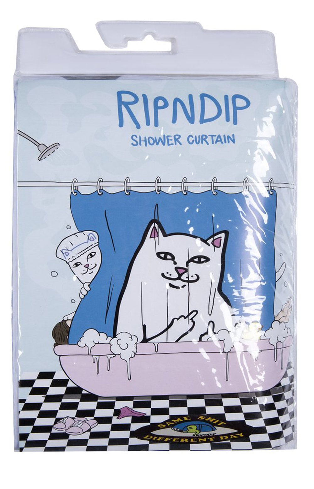 Lord Nermal Shower Curtain - Blue 4