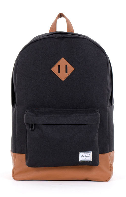 ae5c25ba03f Heritage Backpack - Black Tan Synthetic Leather