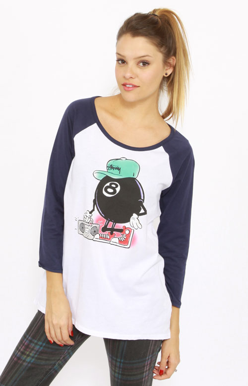 Hip Hop 8 Ball Women's Raglan