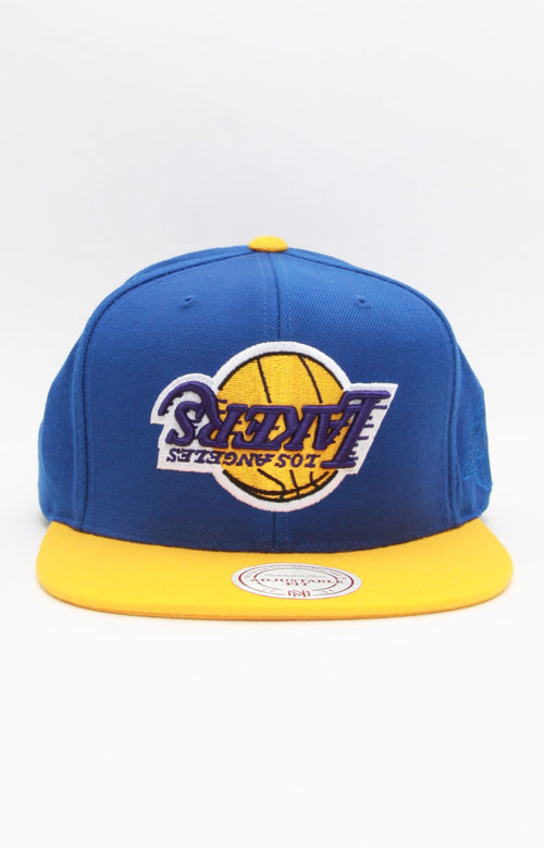 68798eb1005d1 Lakers Upsidedown Snap-Back Hat - Royal Blue Yellow. Loading... Home ·  Brands · Hall of Fame x Mitchell   Ness ...