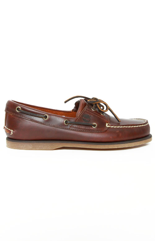 2-Eye Classic Boat Shoes - Rootbeer Smooth