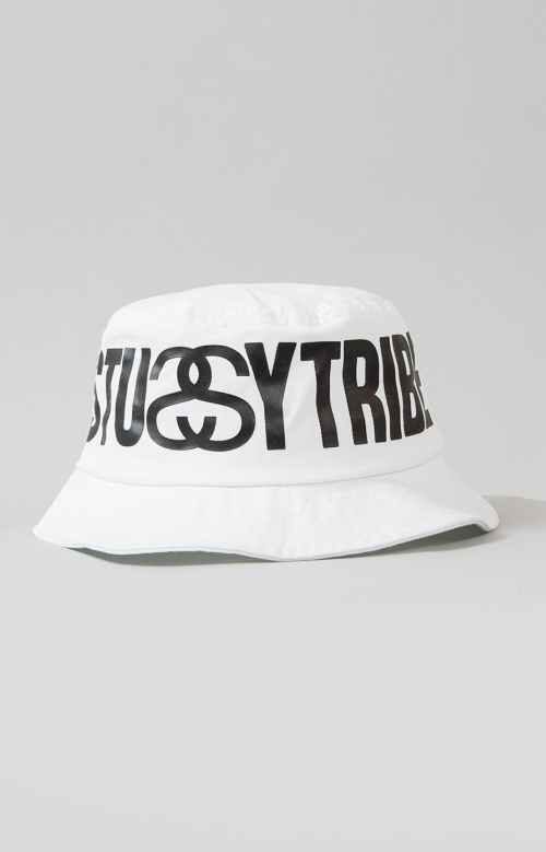 0a59a42e6f791 Stussy Tribe Bucket Hat - White