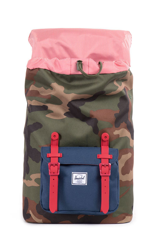 Little America Mid Backpack - Camo/Red Rubber/Navy 2