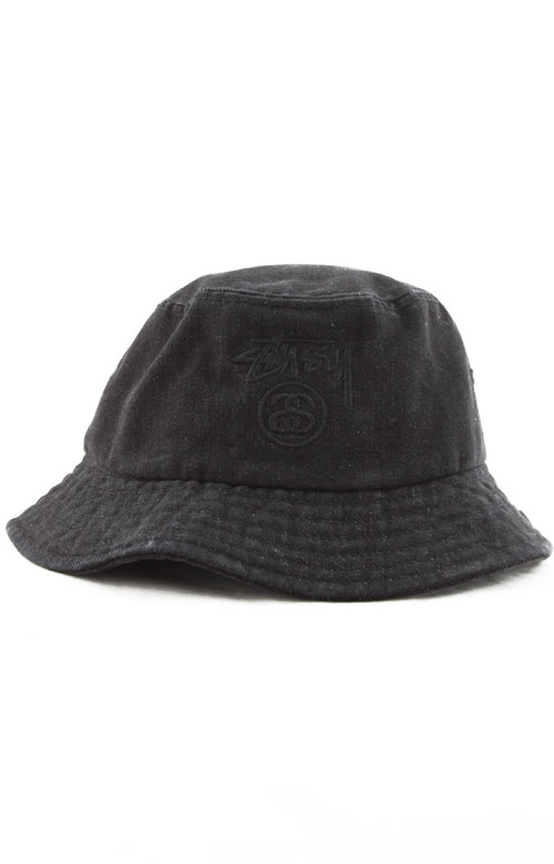 235fc4b6468 Stock Lock Denim Bucket Hat - Black