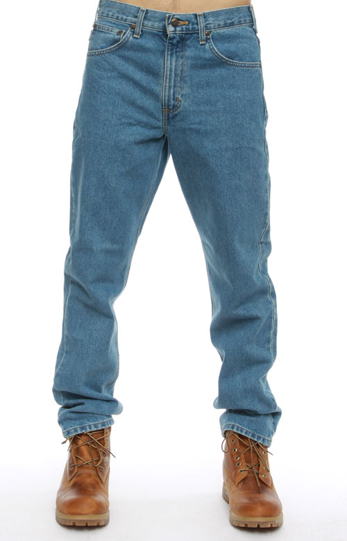 (B18) Straight/Traditional Fit Tapered Leg Jeans - Stonewash 2