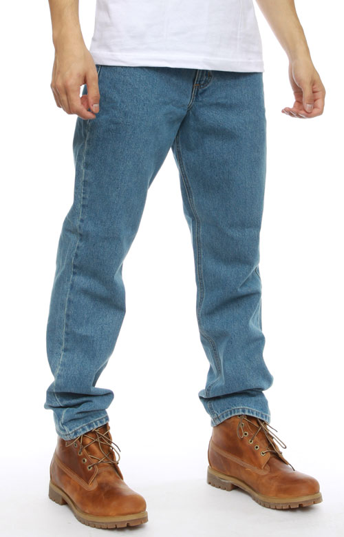 (B18) Straight/Traditional Fit Tapered Leg Jeans - Stonewash 3