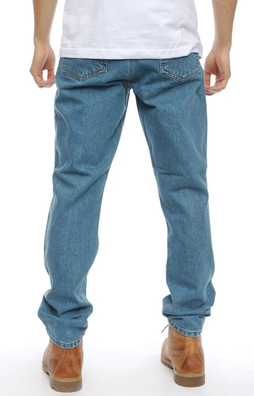 (B18) Straight/Traditional Fit Tapered Leg Jeans - Stonewash 4
