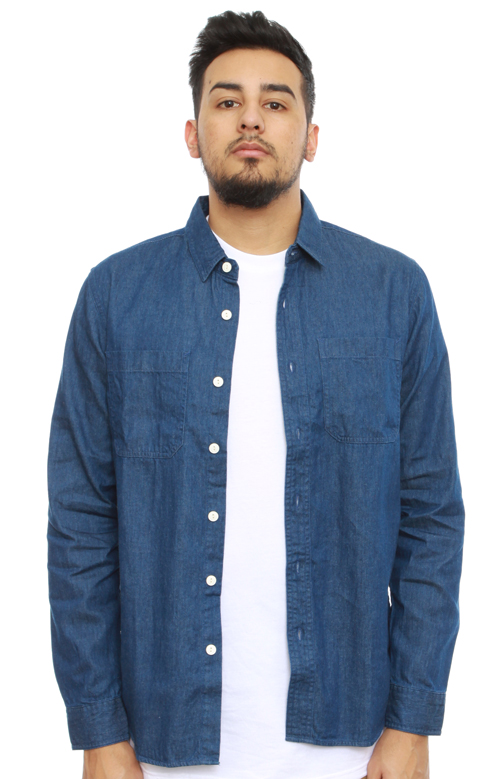 b8477b71776f4d Stussy, Light Denim Button-Up Shirt - Indigo | MLTD