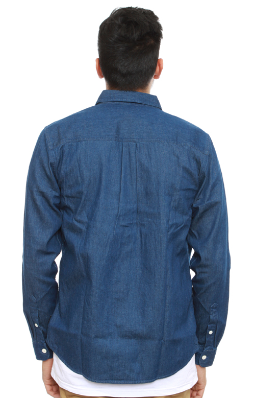 9ebc1df0d30b1d Light Denim Button-Up Shirt - Indigo. Thumbnail 1 Thumbnail 1